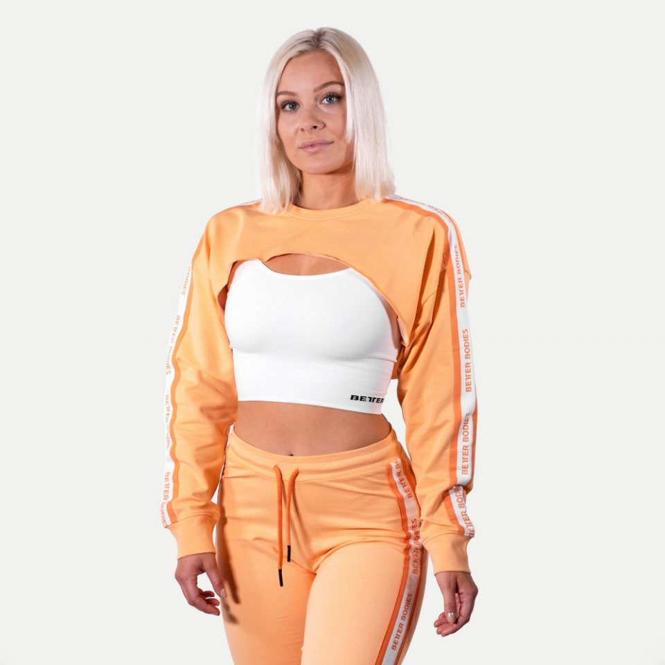 Укороченный свитшот Better Bodies Chrystie cropped Longsleeve, Light Orange