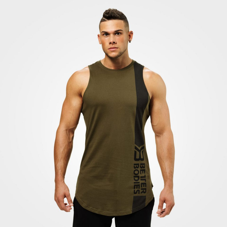 Спортивная майка Better Bodies Stanton Tank, Khaki Green
