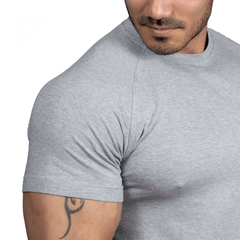 Футболка Better Bodies Gym Tapered Tee, Light Grey Melange