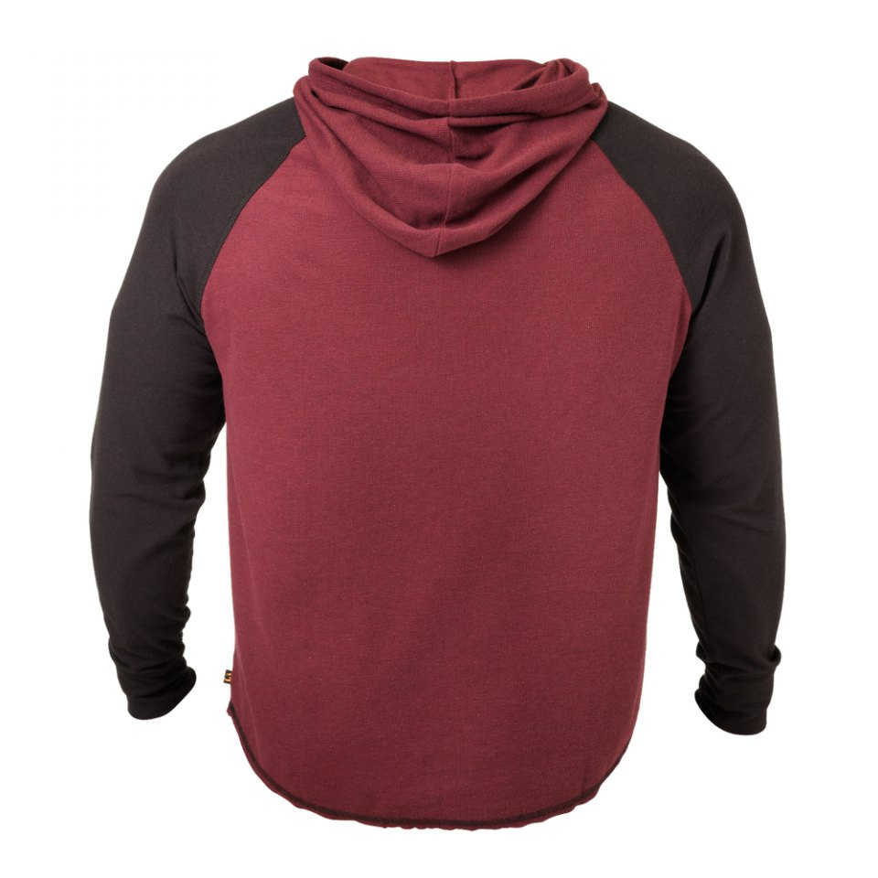 Кофта с капюшоном GASP Long Sleeve Thermal Hoodi, Maroon