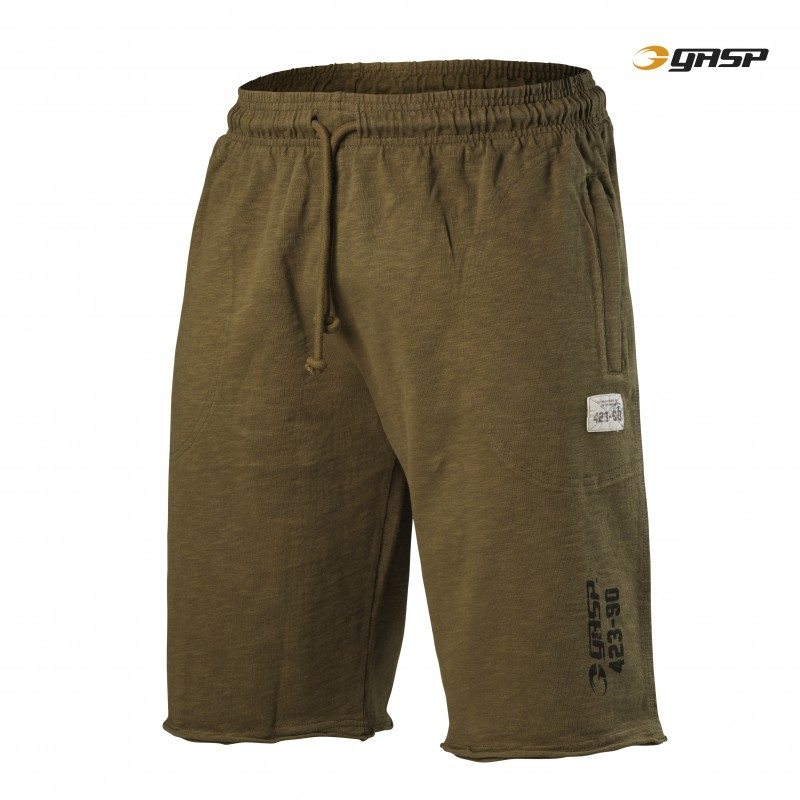 Спортивные шорты GASP Throwback Sweatshorts, Military Olive