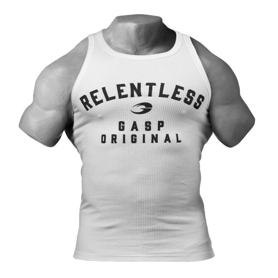 Спортивная майка GASP Relentless tank, White