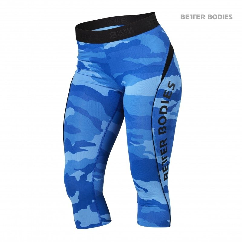 Капри Better Bodies Fitness Curve Capri, Blue Camo
