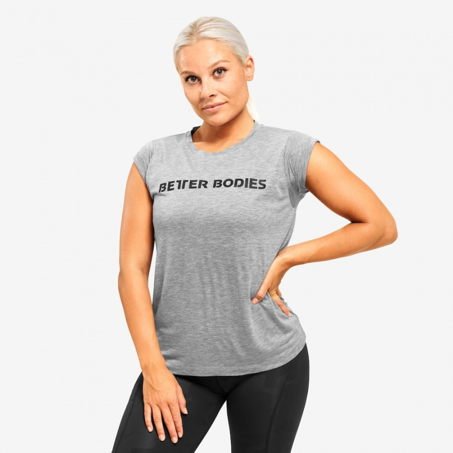 Футболка Better Bodies Astoria tee LIMITED EDITION Bazili0, Greymelange