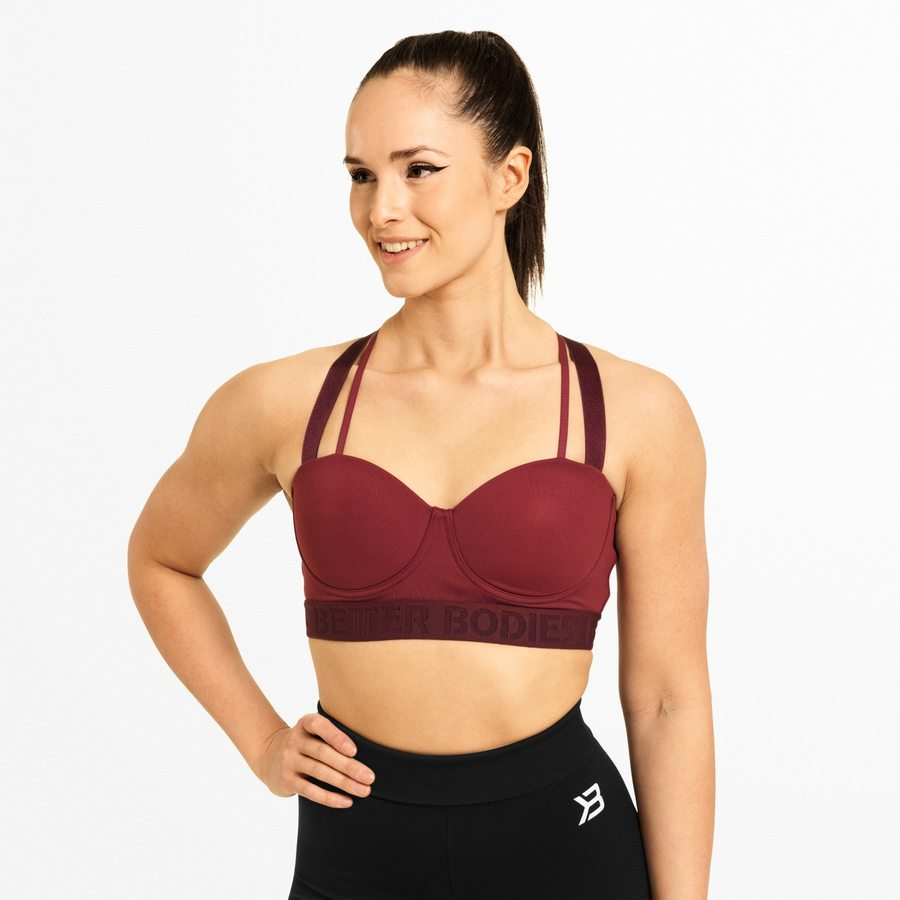 Спортивный топ Better Bodies Waverly Sports Bra, Sangria Red