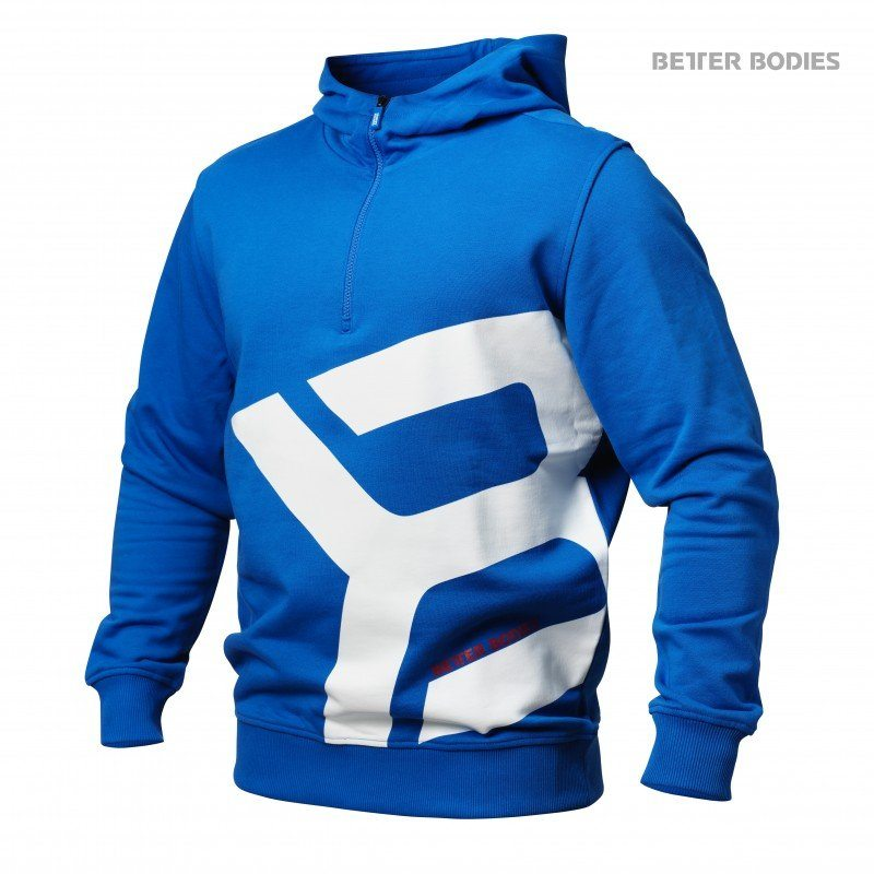 Толстовка Better Bodies Brooklyn Zip Hood, Strong Blue