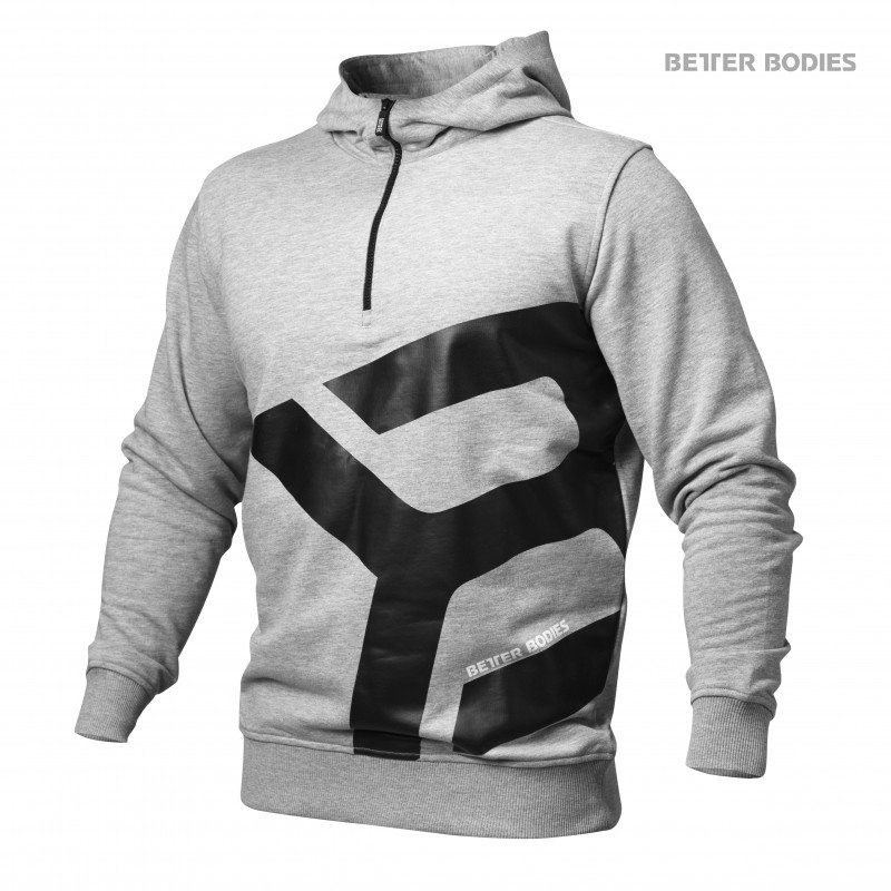 Толстовка Better Bodies Brooklyn Zip Hood, Grey Melange