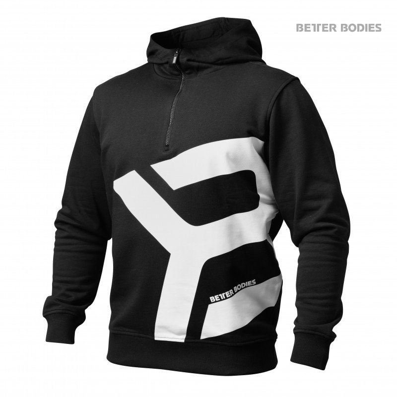 Толстовка Better Bodies Brooklyn Zip Hood, Black