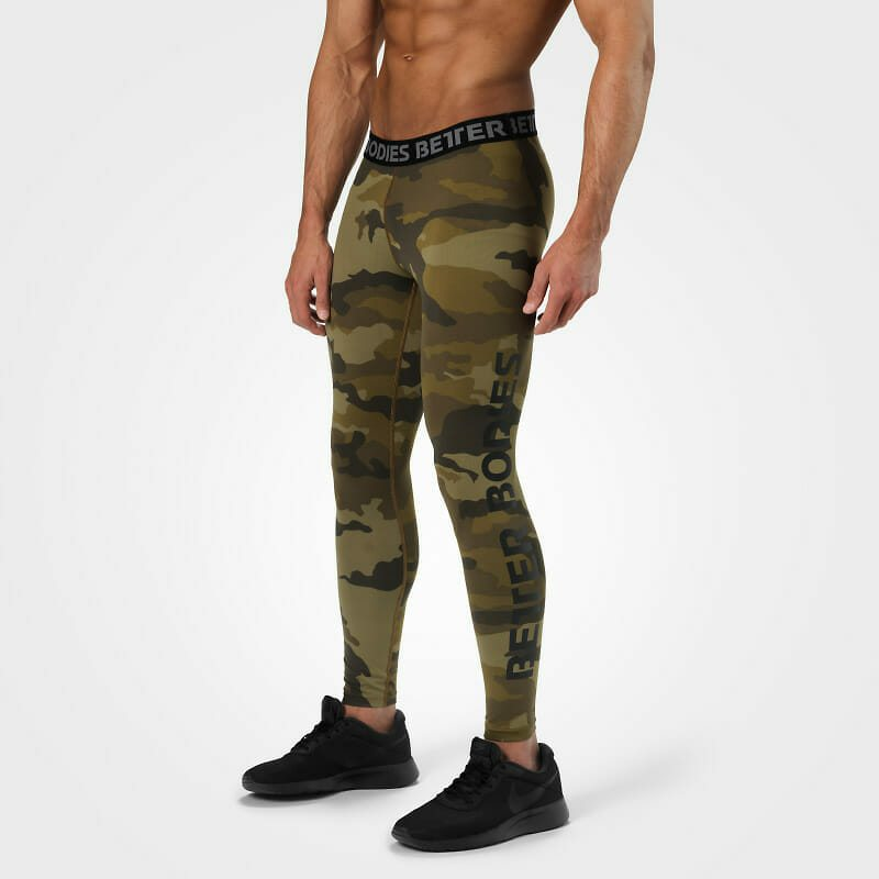 Мужские лосины BB Hudson Logo Tights, Dark green camo