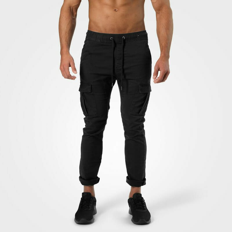 Уличные брюки Harlem Cargo Pants, Wash black