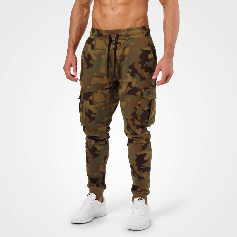Брюки Better Bodies Bronx cargo sweatpant, Military camo