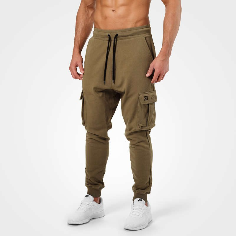 Брюки Better Bodies Bronx cargo sweatpant, Khaki green