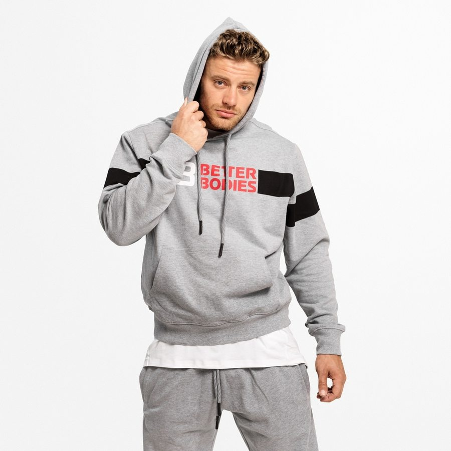 Толстовка Better Bodies Tribeca Pullover, Grey Melange