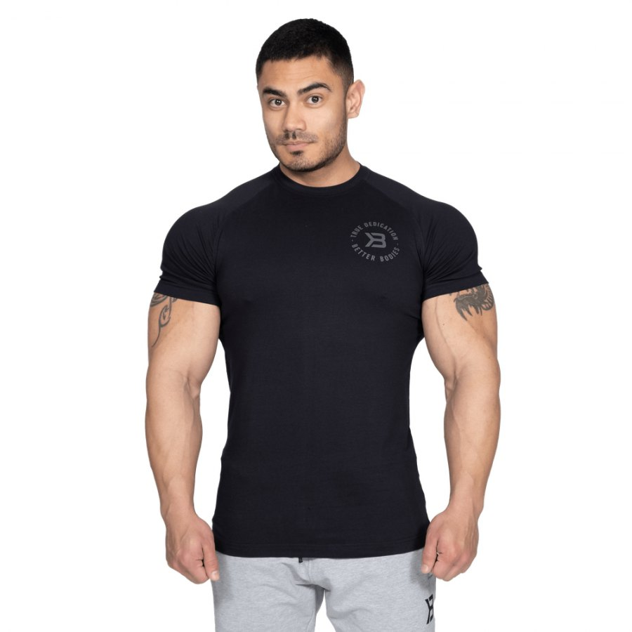 Футболка Better Bodies Gym Tapered Tee, Black