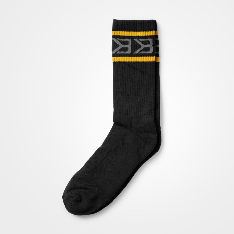 Носки Better Bodies Tribeca Socks 2-pack, Black/Yellow