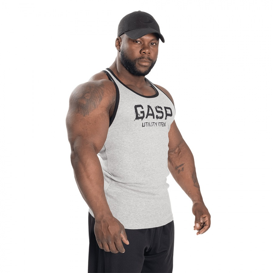 Спортивная майка GASP  Ribbed T-Back, Grey