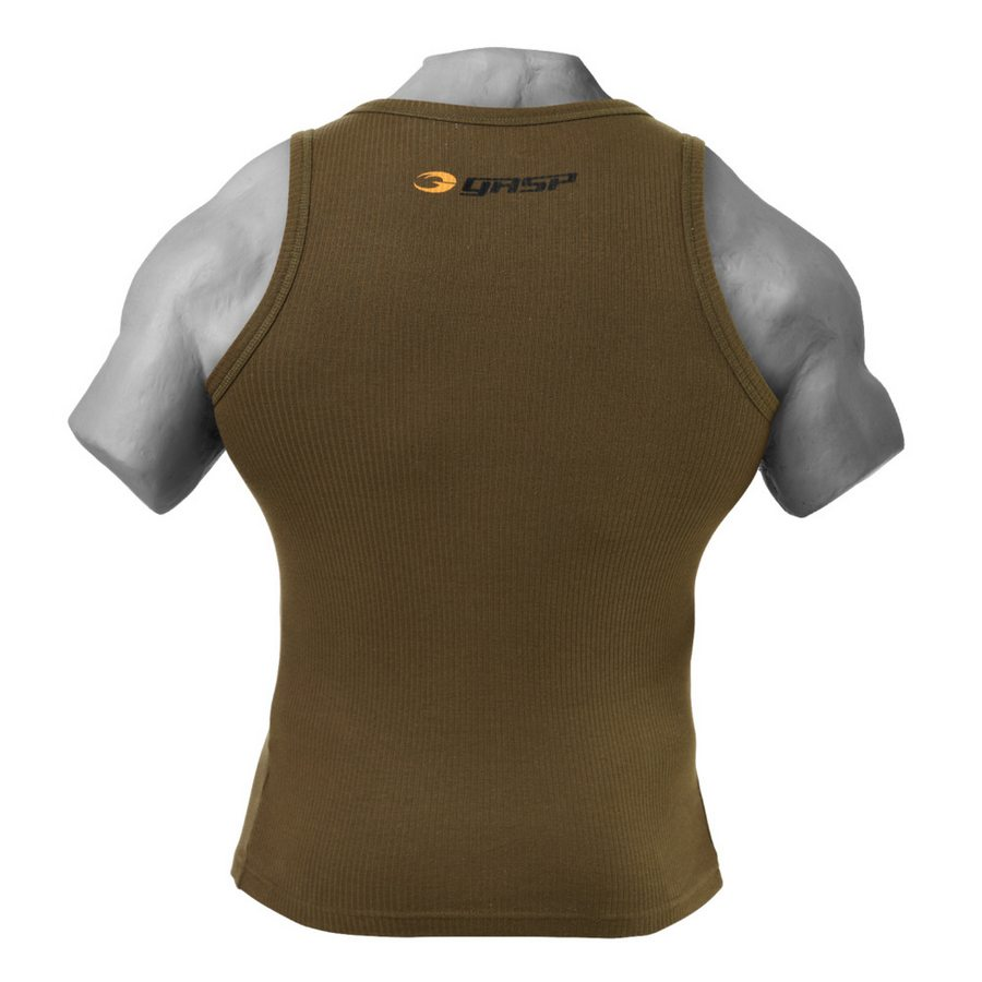 Спортивная майка GASP Original ribbed tank, Military olive