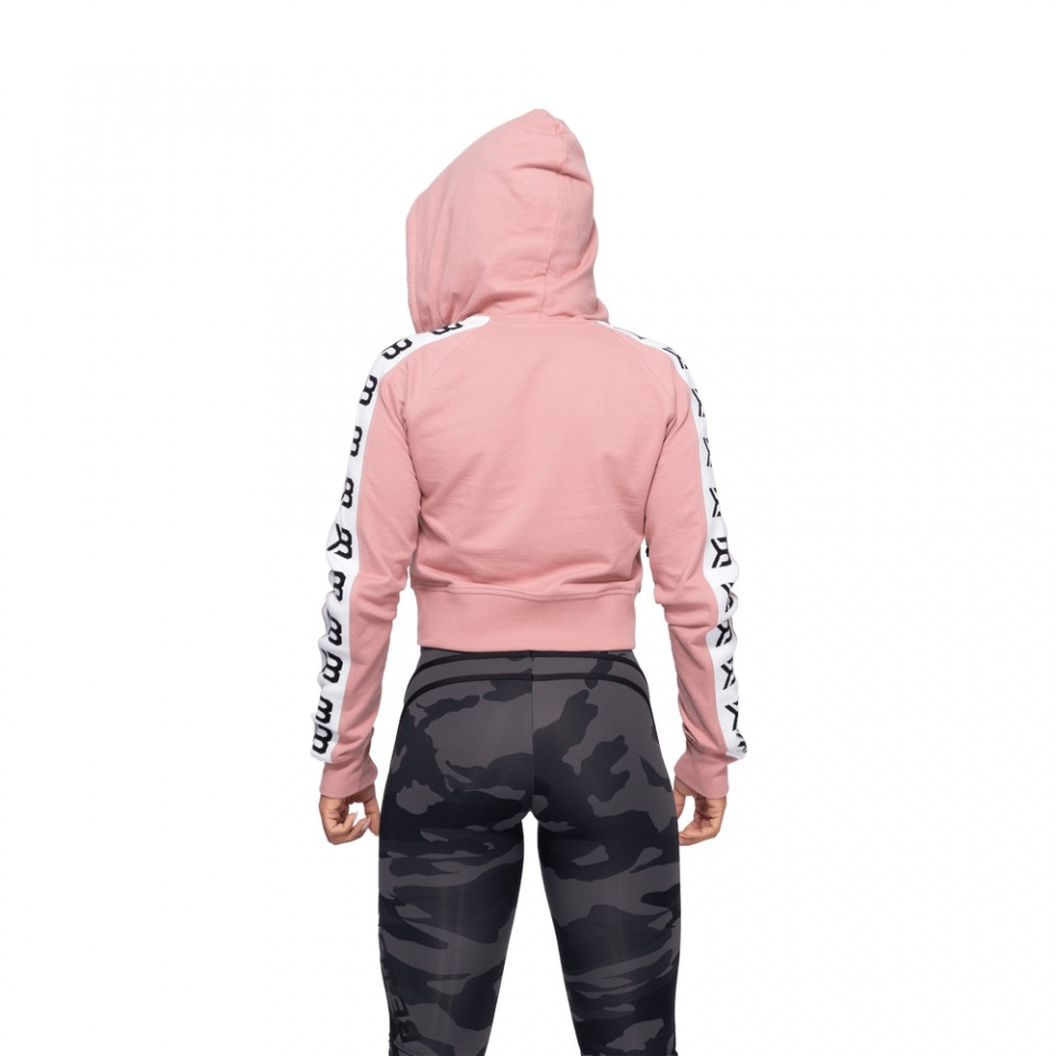 Укороченная толстовка Better Bodies Vesey Cropped Hood, Heather Pink