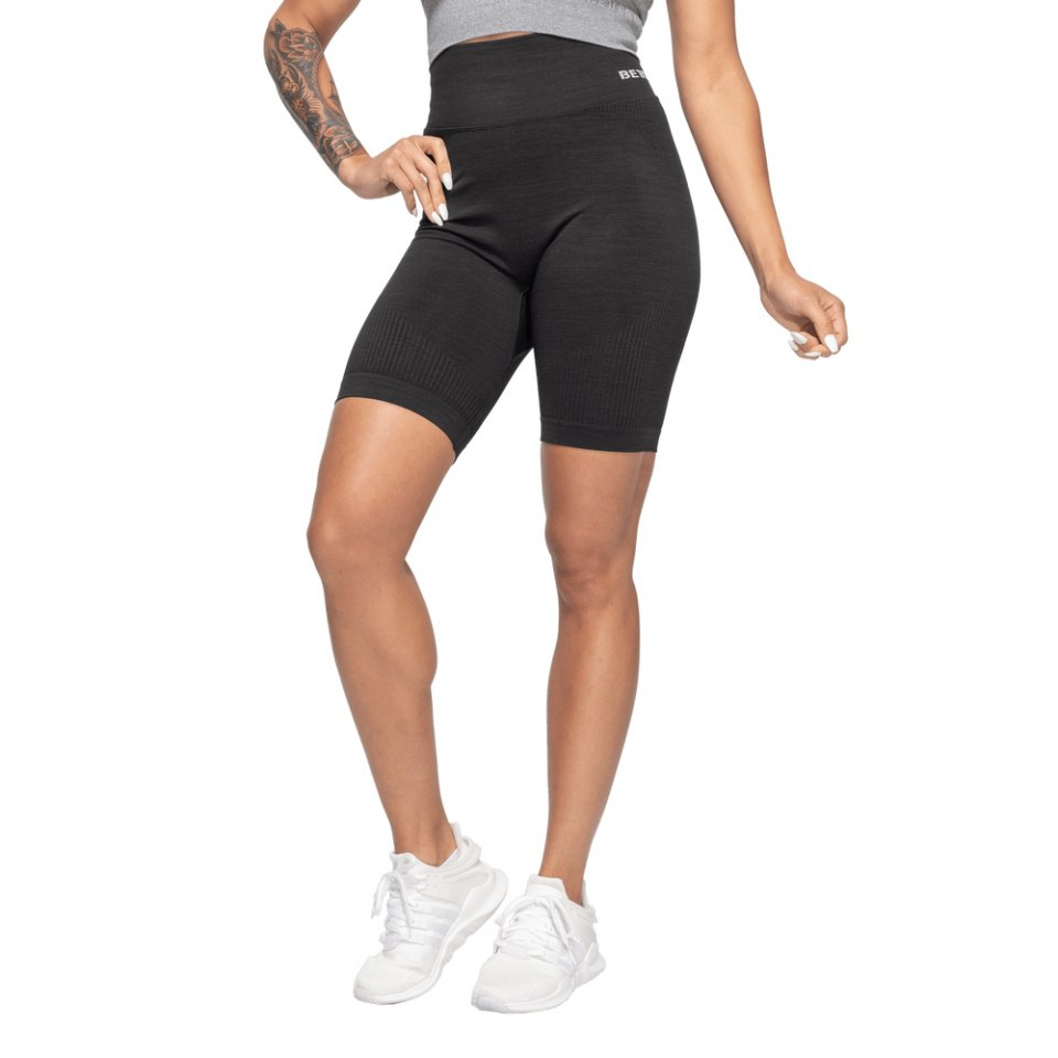 Шорты Better Bodies Rib Seamless Shorts, Black Melange