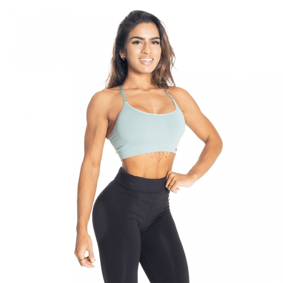 Спортивный топ Better Bodies Astoria Seamless Short Bra, Teal green