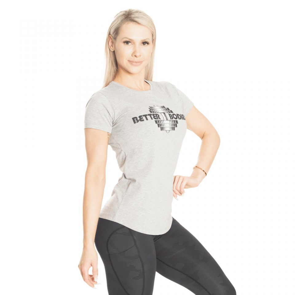 Футбoлка Better Bodies Regular Tee, Light Grey Melange
