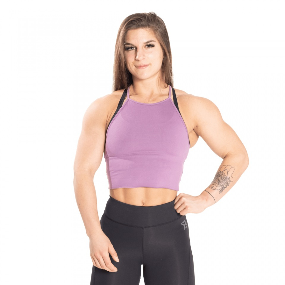Укороченный топ Better Bodies Performance Crop Halter, Strong purple