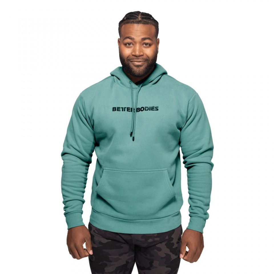 Унисекс толстовка Better Bodies Logo Hoodie, Teal Green