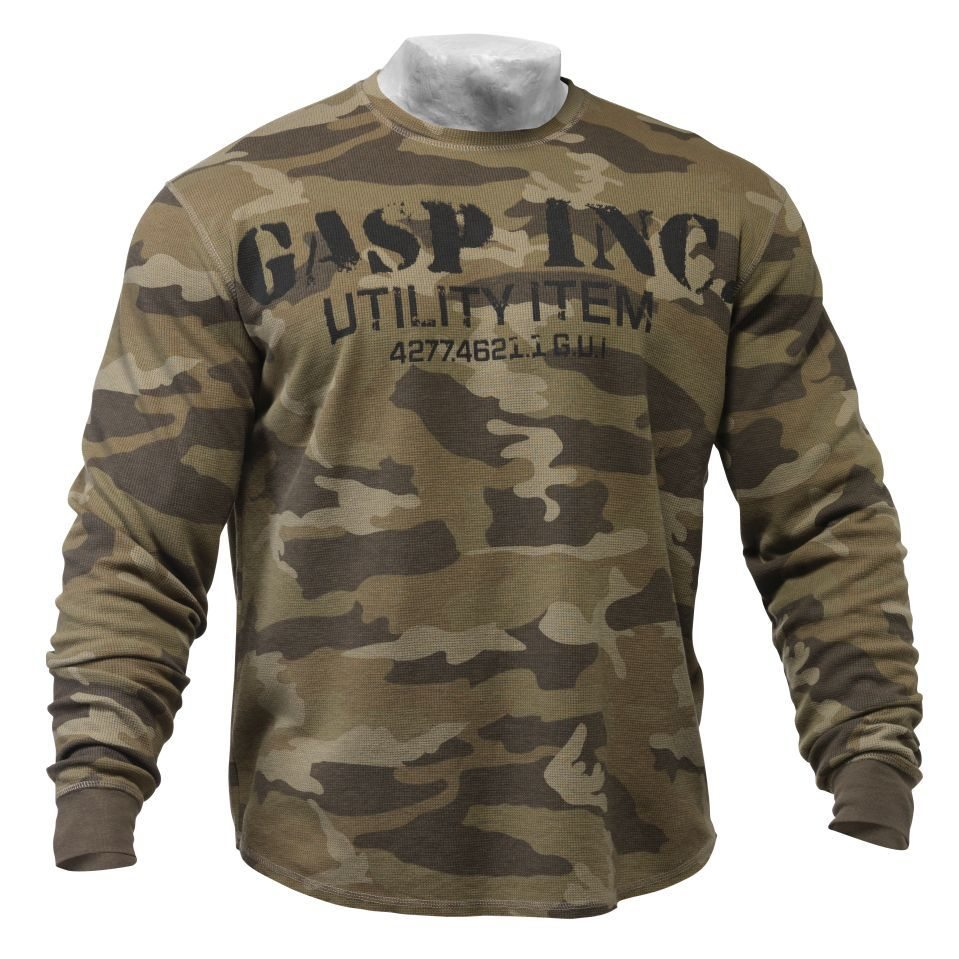 Свитер GASP Thermal Gym Sweater, Camoprint