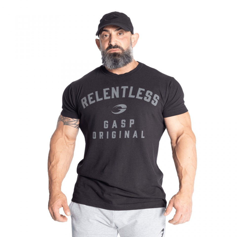 Футболка GASP Relentless skull tee, Washed Black