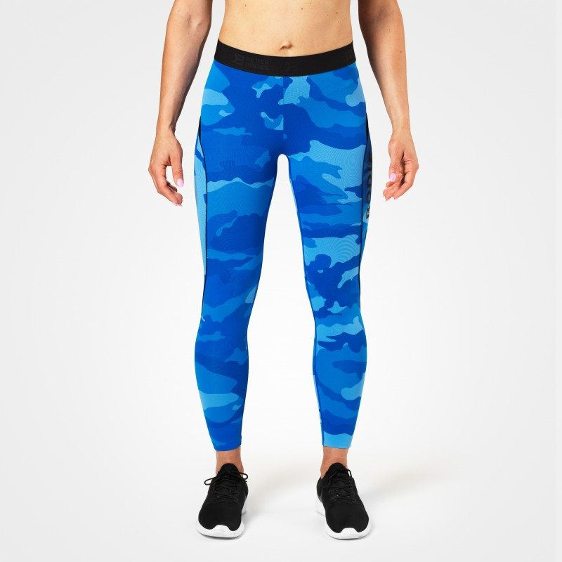 Лосины Better Bodies Fitness Curve Tights, Blue Camo