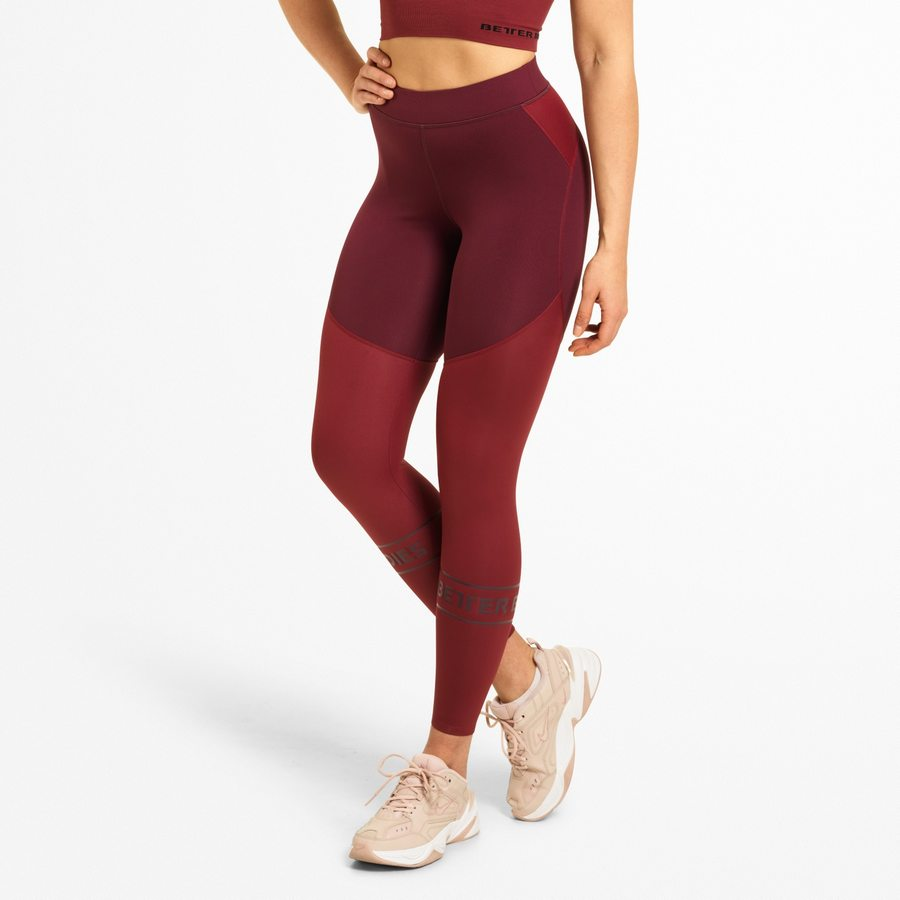 Лосины Better Bodies Chrystie Shiny Tight, Maroon