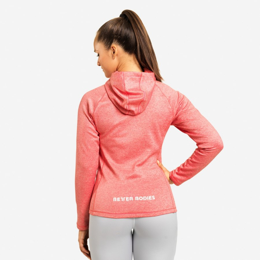 Толстовка Better Bodies York Zip Hood, Raspberry Melange