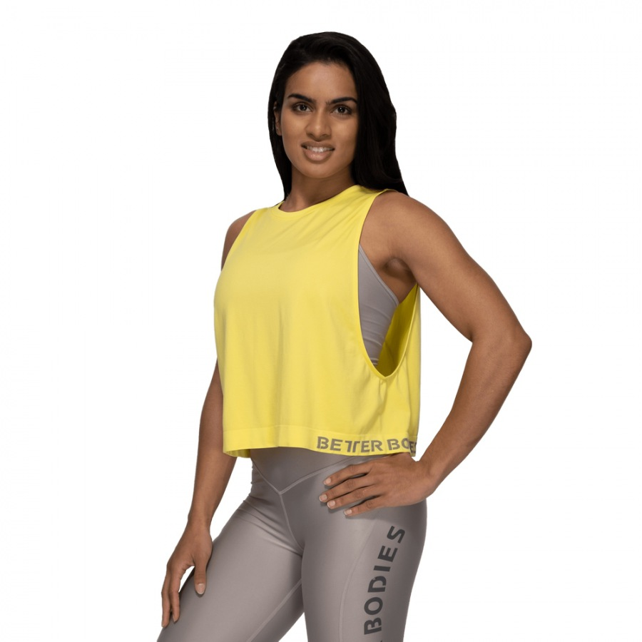 Безрукавка Better Bodies Rockaway Seamless Tank, Lemon Yellow