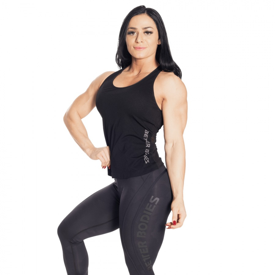 Спортивная майка Better Bodies Seamless Mesh Tank, Black