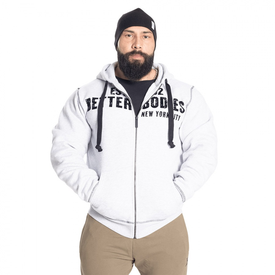 Толстовка Better Bodies Graphic Hoodie, Light Grey Melange
