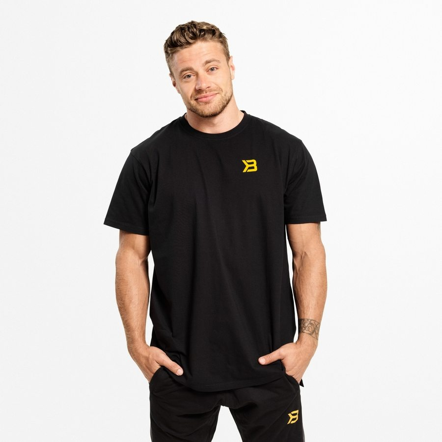 Футболка Better Bodies Stanton Oversize Tee, Black/Yellow