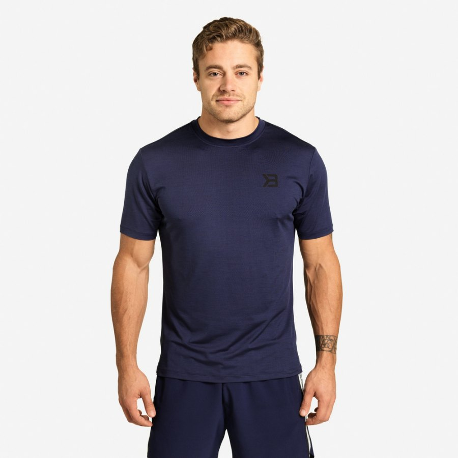 Футболка Better Bodies Essex Stripe Tee, Dark Navy Melange