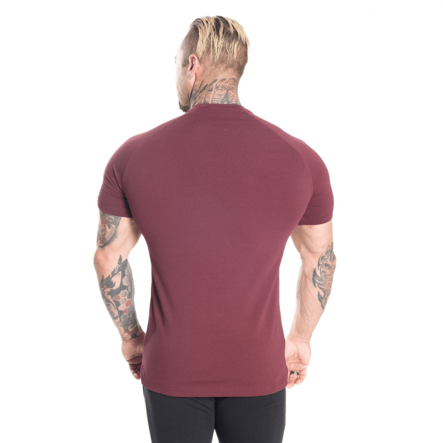 Футболка Better Bodies Gym Tapered Tee, Maroon