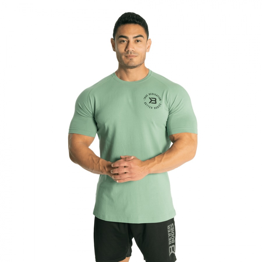 Футболка Better Bodies Gym Tapered Tee, Teal Green