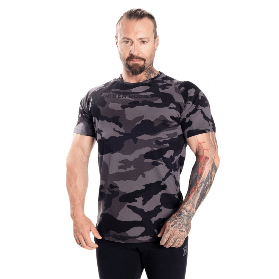 Футболка Better Bodies Gym Tapered Tee, Dark Camo