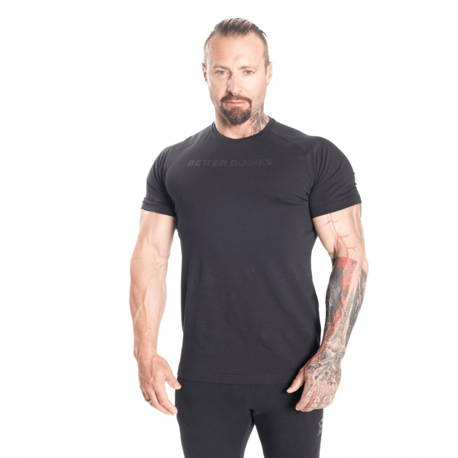 Футболка Better Bodies Gym Tapered Tee, Black/Black