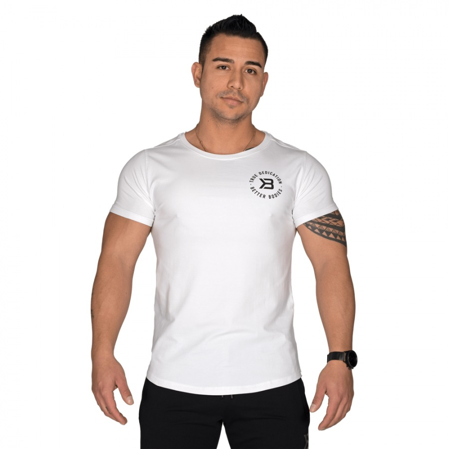 Футболка Better Bodies Wide Neck Tee, White