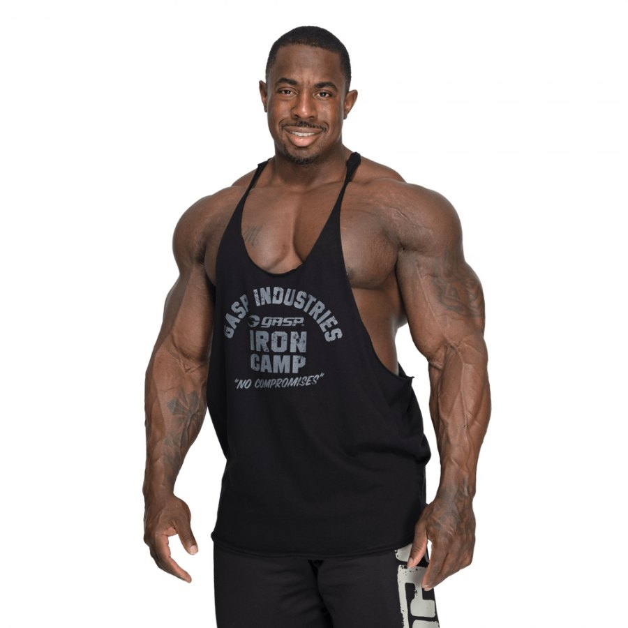 Спортивная майка GASP Stringer, Black/Grey
